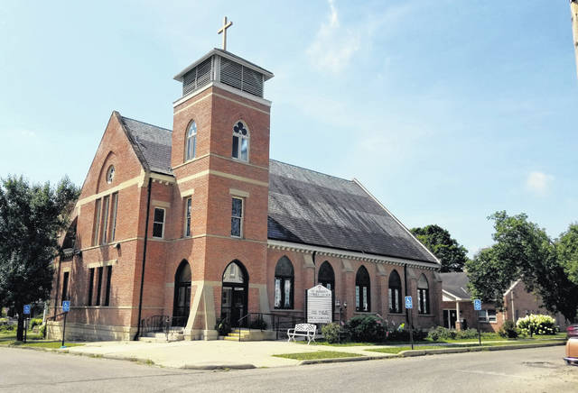This is a picture of St. Benignus Catholic Church on the corner of Maribeau and Second streets in Greenfield.