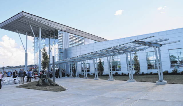 This photograph shows part of the two-year $42 million expansion at the Laurel Oaks Career Campus.