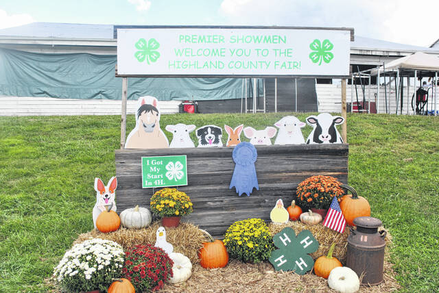 A display stand welcomes visitors to the 2021 Highland County Fair.