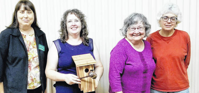 The new officers for the Hillsboro Garden Club are pictured (l-r) Lynn Luman, Judith Stivender, Ruth Anna Duff and Jennifer West.
