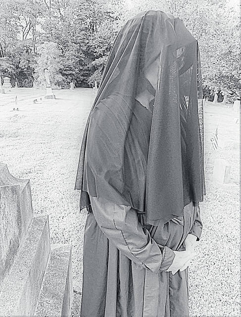 """""""Mourning Emma"""" will tell guests about mourning practices of the 19th and 20th centuries during the Highland County Historical Society's annual Ghost Walk on Sept. 28."""
