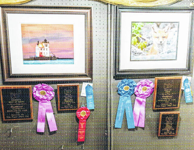 The Best of Show and Reserve Best of Show winners from the traditional photography category at the Highland County Fair are pictured.