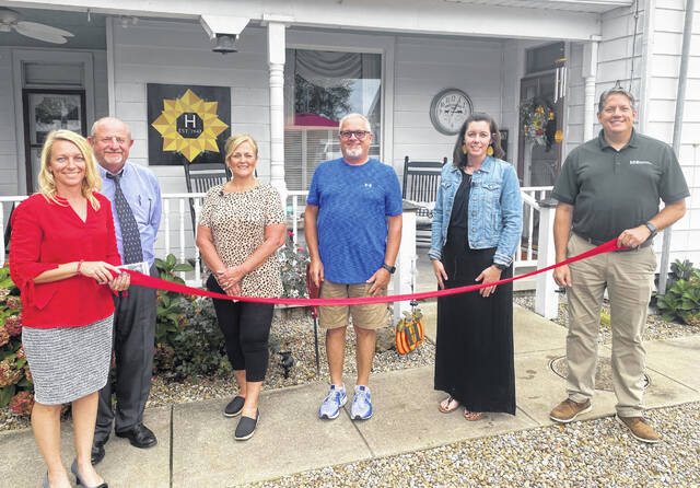 The Highland County Chamber of Commerce held a ribbon-cutting for Whiteoak View Bed & Breakfast as it celebrated its grand opening. Owned and operated by Jeff and Kim Hauke, Whiteoak View offers a relaxing getaway in the country on the Hauke's Family Farm.