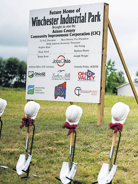 This sign marks the site of the new Winchester Industrial Park.