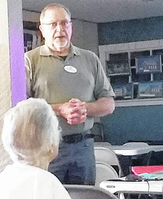 The Hillsboro Women's Club visited the Greenfield Historical Society for its September meeting where it heard historical society member Harold Schmidt (pictured) talk about notable historical Greenfield area women.