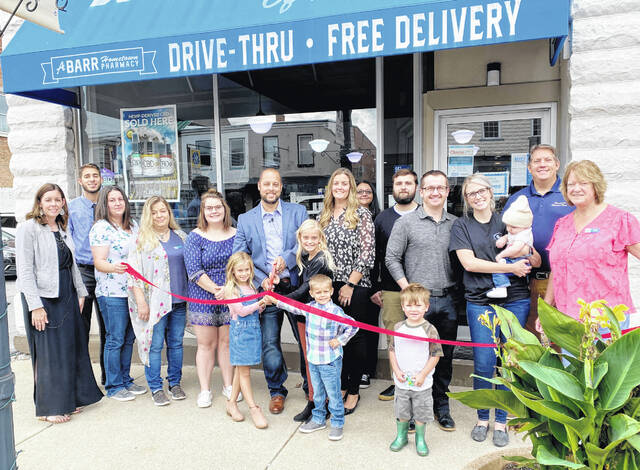 The Highland County Chamber of Commerce held a ribbon-cutting for Barr's Pharmacy in Hillsboro as it celebrated its name change and five-year anniversary. The pharmacy offers free delivery, immunizations, medication packaging, online and mobile refills and more.