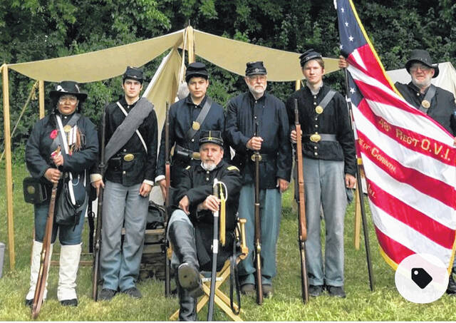 Who was your Civil War ancestor? Do you know? Most folks have at least one, according to Southern Ohio Genealogical Society (SOGS) First Vice President Mary Hawthorne. At the Thursday, Oct. 14 SOGS meeting Civil War re-enactors, like those pictured above, will be describing life as a Civil War soldier. The re-enactors will be in uniform and have weapons, typical food and eating utensils and camp gear for you to see. This will be a hybrid meeting. You can attend in person or participate online. Check SOGS.info starting Tuesday, Oct. 12 for virtual meeting information.