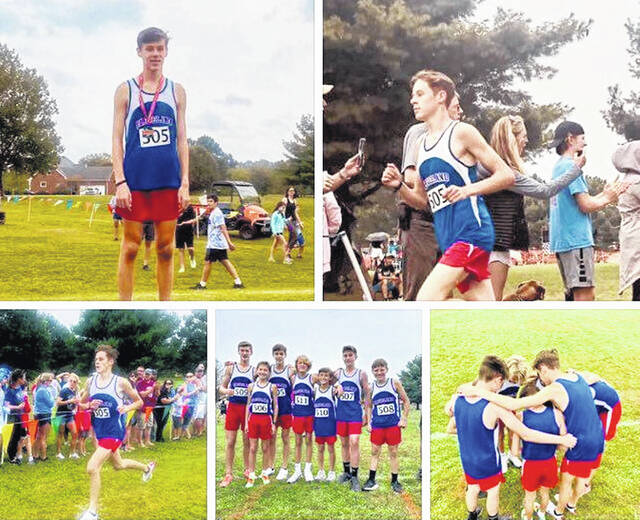 """This collage of pictures shows Owen Clemons, who recently repeated as Tennessee middle school state cross country champion. Clemons finished the two-mile race in a school and state course record time of 10:19. He also ran a 5K cross country race in a time of 15:46 this year. A home-schooled eighth-grader who runs for Cleveland Middle School in Cleveland, Tennessee, he is the son of 1996 Hillsboro High School graduate Johnny Clemons and the grandson of Debbie and Gerold """"Buzzard"""" Wilkin of Hillsboro."""