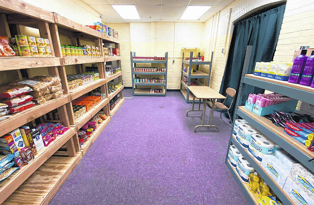 The new MHSmart Food Pantry is located in a basement room at McClain High School. This expansion of the MHSmart program will serve not just students in need, but their families, too.
