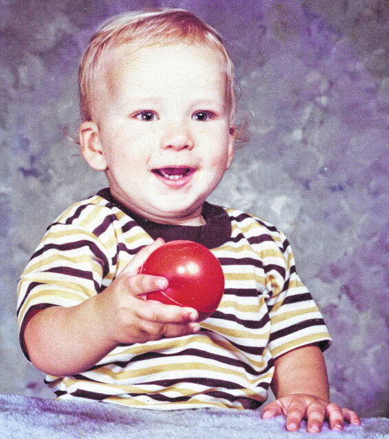 Rusty Groves as a baby in 1971.