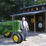 Dad honored with restored tractor