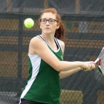 Lady Wave tennis defeats Eaton