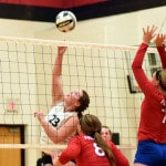 Mississinawa Valley defeats Tri-Village in CCC volleyball match