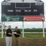 Bank donates to MV scoreboard