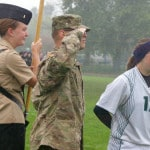 Soldier returns from Afghanistan, surprises sister before soccer game