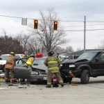 Law enforcement investigate wreck at Russ Rd., 121