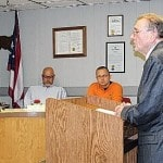 Rep. Jim Buchy presents commendation to outgoing Union City, Ohio, mayor