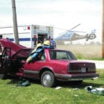 Crews respond to two-car accident