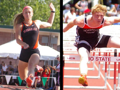 Versailles girls track and field athlete Jenna Frantz has been named The Daily Advocate's girls spring sports athlete of the year, and Versailles boys track and field athlete Josh Steinbrunner has been named The Daily Advocate's boys spring sports athlete of the year.