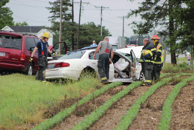Firefighters, paramedics and law enforcement officers rushed to the scene of a two-vehicle collision Wednesday afternoon at State Route 49 and Miller-Brumbaugh Road, south of Pitsburg. A Vandalia woman was pronounced dead at the scene.