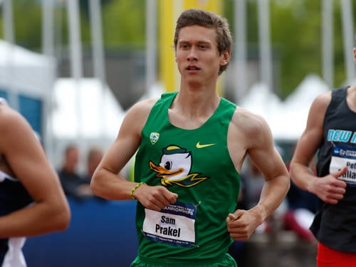 Versailles graduate Sam Prakel finished seventh in the nation in the men's 1,500 meter run at the USA Track & Field Outdoor Championships.