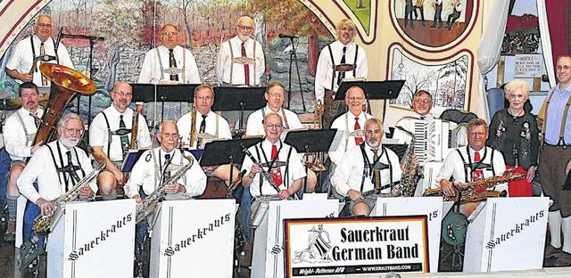 Wright-Patterson Air Force Base's Sauerkraut German Band will perform in Versailles, Friday, June 30.
