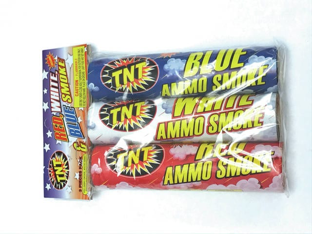 """The Consumer Product Safety Commission has issued a recall on """"TNT Red, White, & Blue Smoke fireworks."""" Consumers who purchased the product are urged not to use them and contact the company for a full refund."""
