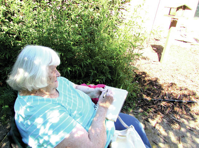 Pat McCarthy, of Greenville, participated in the Darke County Park District's Art of Nature Journaling, Saturday June 24, at Shawnee Prairie Preserve and Nature Center, in Greenville.