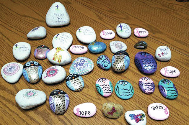 West Central Ohio Rocks is a group of people spreading kindness and love, one rock at a time. Members sign up on Facebook, paint rocks, take photos of the rocks and hide them. Once found, the rock is hidden in a new spot and the cycle continues.
