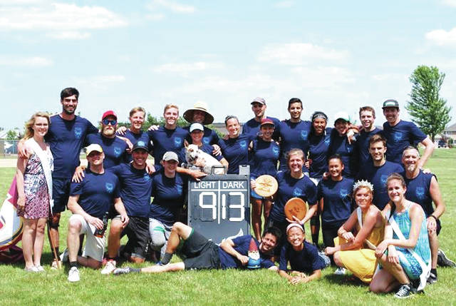 Pollos en mis Pantelones of Cleveland battled 64 teams from throughout the United States and Canada to become the Ultimate Champions for the second year at the Versailles Poultry Days festival's Ultimate Frisbee Tournament.