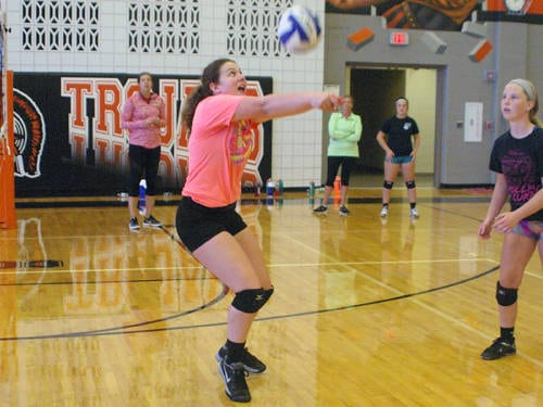 Adult camp volleyball
