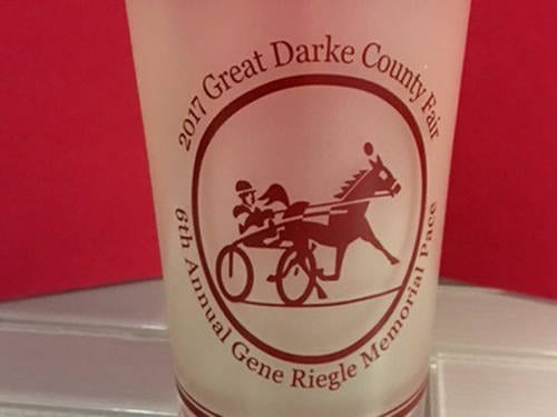 Closing night of the 2017 Great Darke County Fair harness racing program will feature a giveaway of a collectible glass to the first 1,000 fans buying a racing program.