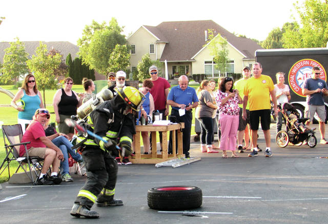 "The Central Western Fireman's Association Convention took place July 27 and 28, in Versailles. Part of the convention included several competitions. The first was a ""Strongarm Competition"", consisting of challenging events that the participants had to attempt under pressure of a stopwatch."