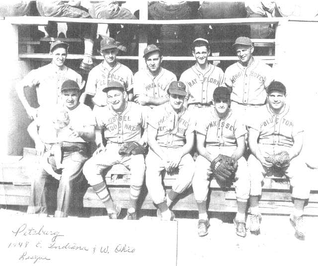 The Arcanum Wayne Trail Historical Society needs help identifying the Pitsburg players in this photo. Picture is dated 1948, E. Indiana and W. Ohio League. If so, please contact Barb Deis at 937-662-0119.
