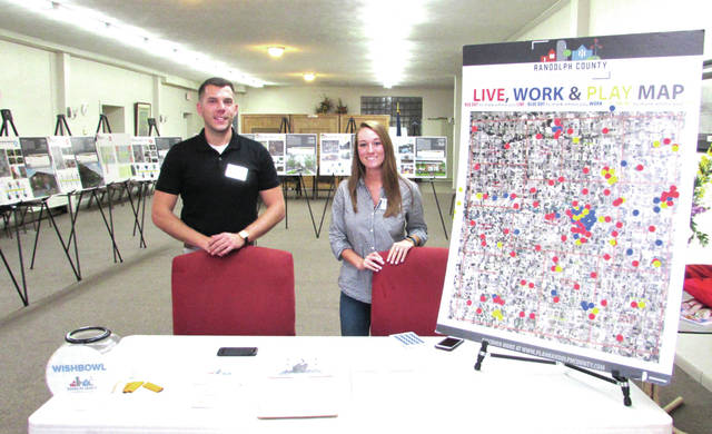 Union City, Indiana is a finalist of the Stellar Communities Designation. Pictured from left are American Structurepoint, Inc., Project Planners Brandon Bart and Hailey Woods. American Structurepoint, a consulting firm in Indianapolis, was hired by Union City to help earn the designation.