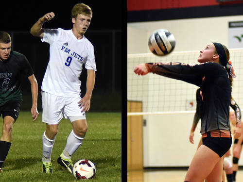 Franklin Monroe boys soccer player Brydon Diceanu and Arcanum volleyball player Elle Siculan have been named this week's Daily Advocate athletes of the week. To nominate a Darke County athlete for athlete of the week, contact Sports Editor Kyle Shaner at 937-569-4316 or kshaner@dailyadvocate.com.
