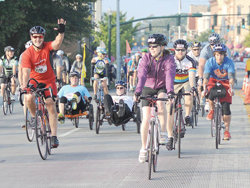Local riders as well as from far away came to participate in the Tour De Donut event this weekend in Troy. The race was held in Arcanum the past 10 years.