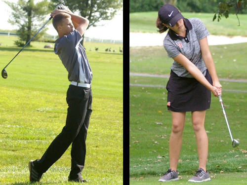 Arcanum boys golfer Carter Gray and Versailles girls golf Jorja Pothast have been named this week's Daily Advocate athletes of the week. To nominate a Darke County athlete for athlete of the week, contact Sports Editor Kyle Shaner at 937-569-4316 or kshaner@dailyadvocate.com.