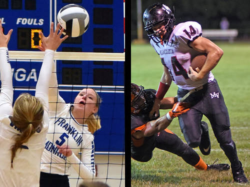 Franklin Monroe volleyball player Makenzie Kreitzer and Mississinawa Valley football player Nate Gladdish have been named this week's Daily Advocate athletes of the week. To nominate a Darke County athlete for athlete of the week, contact Sports Editor Kyle Shaner at 937-569-4316 or kshaner@dailyadvocate.com.