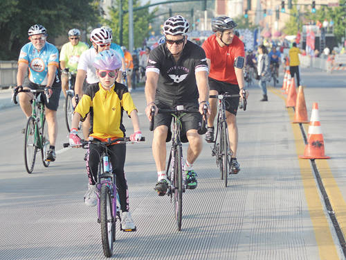 Riders of all ages came to participate in the Tour De Donut event on Saturday in Troy. The race moved to Troy this year after 10 years in Arcanum.