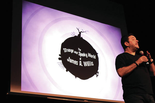 Author and paranormal investigator James Willis presented the findings of his investigation at St Clair Memorial Hall Thursday evening.