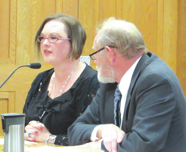 Angela Bergman, shown with defense attorney Randall Breaden, pleaded guilty to a third-degree felony count of attempted felonious assault. She will be sentenced December 18.