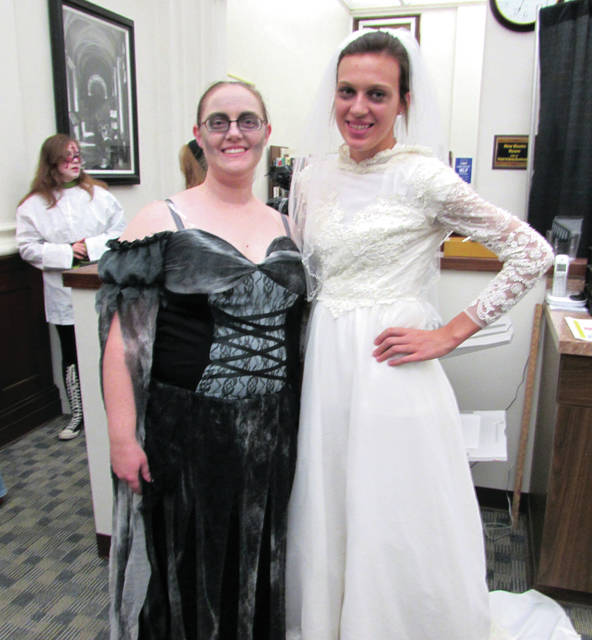 Volunteers from Greenville Public Library and Gateway Youth Programs staged a Fright Night event at the library Friday evening.
