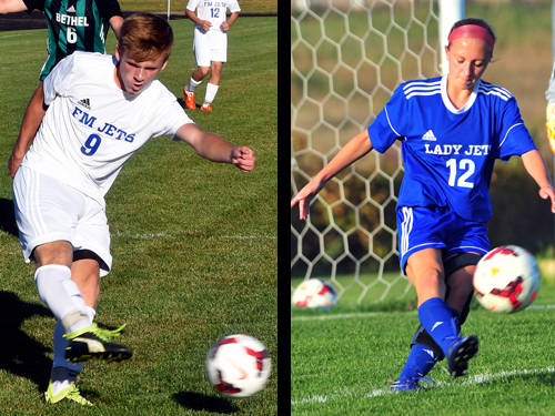 Franklin Monroe's Brydon Diceanu has been named The Daily Advocate's boys soccer player of the year, and Franklin Monroe's Chloe Brumbaugh has been named The Daily Advocate's girls soccer player of the year.