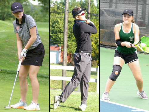 Versailles' Lauren Durham has been named The Daily Advocate's girls golfer of the year, Franklin Monroe's Noah Koffer has been named The Daily Advocate's boys golfer of the year, and Greenville's Natalie Milligan has been named The Daily Advocate's girls tennis player of the year.