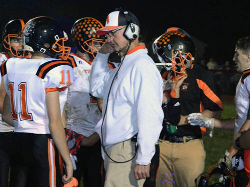 Ansonia's Eugene Hoening has been named the Southwest All-District football Division VII coach of the year by the Ohio Prep Sportswriters Association.