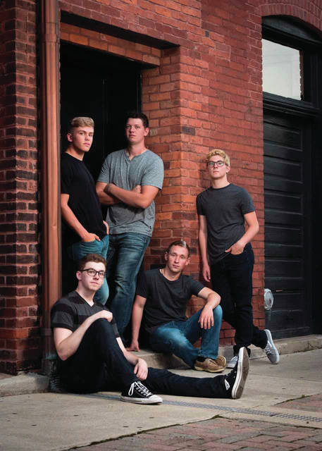 Courtesy photo The Versailles based group, The Quintessentials, consisting of Isaac Buschur, Mitchell Rawlins, Quincy Baltes, Brody Hyre and Kyle Wuebker will be heading to Florida to perform in front of the America's Got Talent judges on November 5.