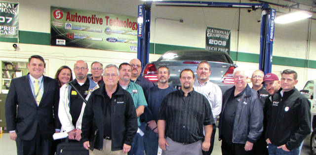 Greenville High School Auto Tech Instructor Travis Nicholas led the school's first Auto-Tech Program Automotive Youth Educational Systems (AYES) Advisory Council meeting of the year, November 7. Those in attendance included business representatives from Sinclair Community College; Grilliot Alignment Service; Hamilton Auto Sales; O'Reilly Auto Parts; Toyota; Stark State College; author Jim Alderman; Greenville City Schools: Bus Mechanic Department; Principal Stan Hughes, Director of Career Technology and Special Education Andrea Townsend, Career Technology Secretary Mary Lee Moore and Auto-Tech instructor Matt Obringer.