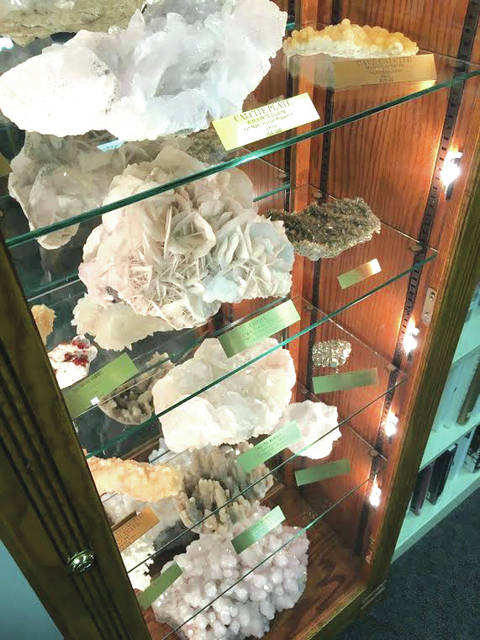Specimens from the Langsdon Mineral Collection will be on display at Shawnee Prairie November 2.