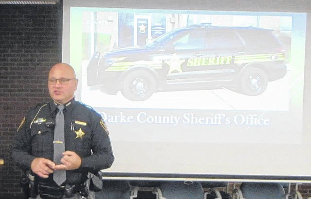 """Thursday's Darke County Safety Council Meeting focused on distracted driving, through a presentation """"Distracted Driving: Get your Head out of your Apps"""" by the Darke County Sheriff's Office Deputy Doug Didier."""